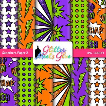 Superhero Clip Art | Scrapbook Paper and Backgrounds for Classroom Decor