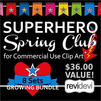Superhero Clip Art – Spring Club for Commercial Use Clipart