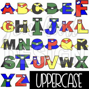 Alphabet Letters Clip Art - Superhero Bold Letters {jen hart Clip Art}