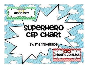 Superhero Clip Chart