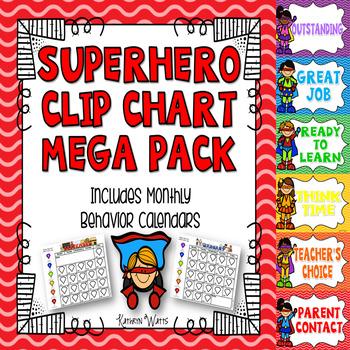 Superhero Clip Chart Mega Pack