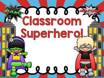 Superhero Clip Chart for PreK - 3