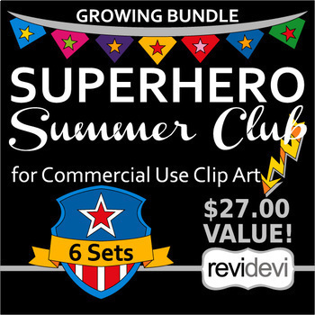 Superhero Clip art - Summer Club for Commercial Use Clipart