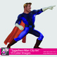 Superhero Clipart - Adult Man Superhero Clip Art Graphics