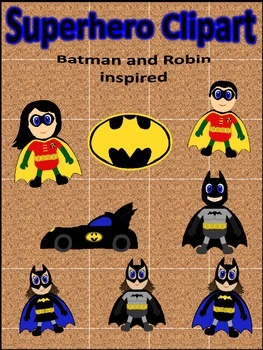 Superhero Clipart- Batman and Robin Inspired
