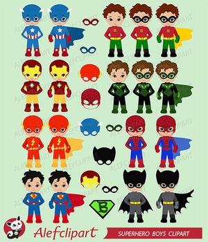 Superhero Clipart Boys Bundle