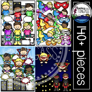 Superhero Clipart MEGA Bundle