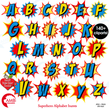 superhero clipart letters clipart letters bursts alphabet vectors rh teacherspayteachers com clipart letters of alphabet clip art letters purple