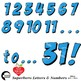 Superhero Clipart Letters and Numbers, Lower Case Alphabet Blue, AMB-2442-1