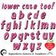 Superhero Clipart Letters and Numbers, Lower Case Alphabet PINK, AMB-2442-4