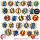 Superhero Clipart, Letters and Numbers MEGA BUNDLE, AMB-1729