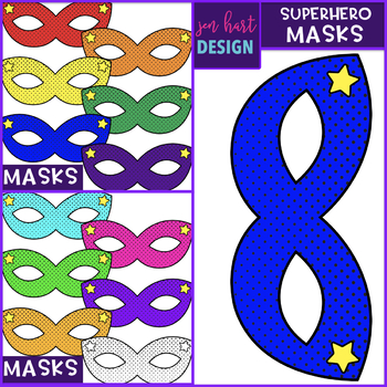 Superhero Clipart {Masks}