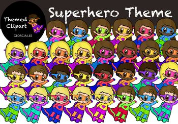 Superhero Theme Clipart that you can also use as ClassDojo Avatars!