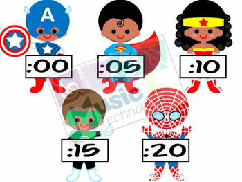 Superhero Clock Decorations