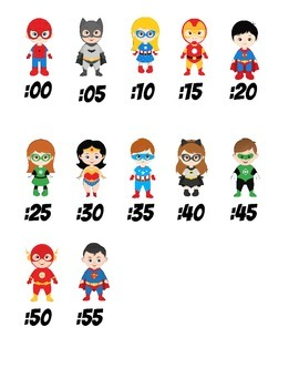 Superhero Clock Numbers