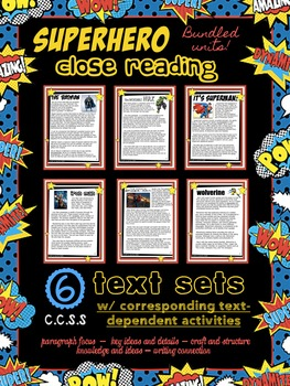 Superhero Close Reading & Writing Theme Unit {Bundle}