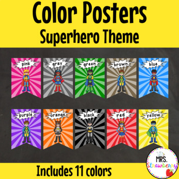 Superhero Color/ Colour Posters