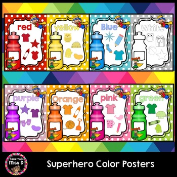 Superhero Color Posters