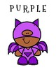 Superhero Color Posters Vocabulary / Word Wall & Coloring Page