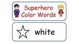 Superhero Color Words