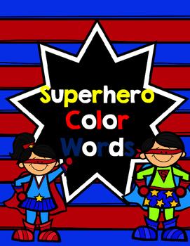 Superhero Color Words