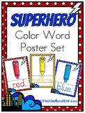 Superhero Color Words Poster Set