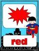 Superhero Color Words Posters