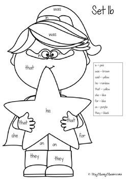 Superhero Color by Word - Sight Word Coloring Sheets (Dolch Words)