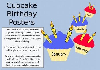 Superhero Colored Birthday Posters!