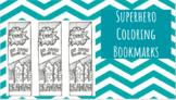 Superhero Coloring Bookmark