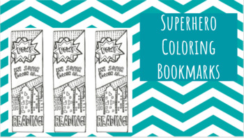 Superhero Coloring Bookmark