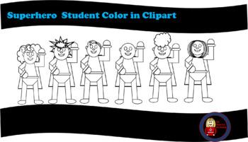 Superhero Coloring Clipart