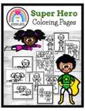 Superhero Coloring Pages Booklet