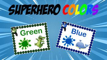 Superhero Colors: Green Lantern