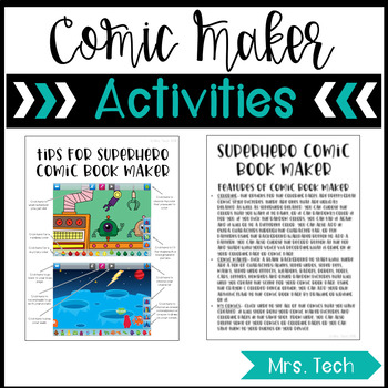 Superhero Comic Book Maker Activities