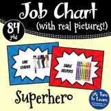 Superhero / Comic Book Themed Classroom Job Chart with Pictures