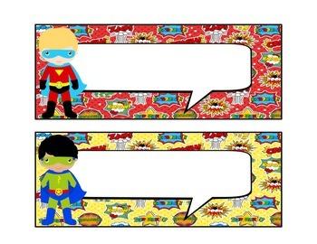 Superhero Comic Nameplates