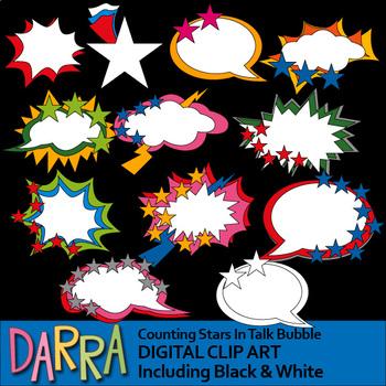 Superhero Comic Speech Bubble Clip art - Math - Counting S