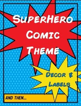 Superhero Comic Theme - Decor