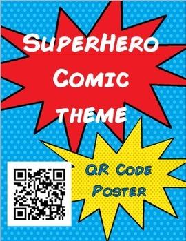 Superhero Comic Theme - QR code