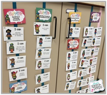 Superhero Common Core Posters for Speech and Language