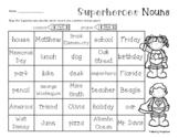 Superhero Common / Proper Noun Color Code Activity
