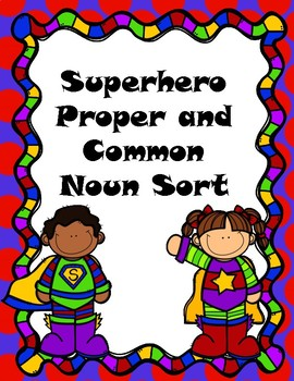 Superhero Common and Proper Noun Sort