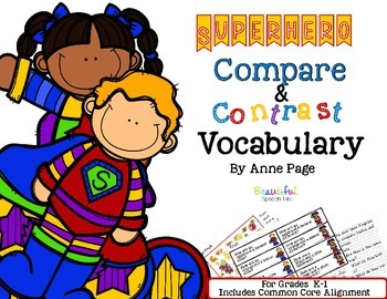Superhero Compare & Contrast Vocabulary Builder