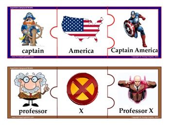 Superhero Compound Word Game / Jigsaw / Puzzle