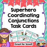 Coordinating Conjunction Task Cards with a Superhero Theme