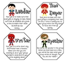 Superhero Cooperative Learning Job Cards