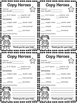 Superhero Copy Volunteer Form