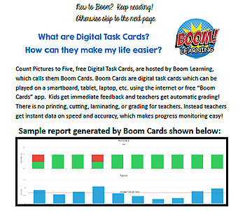 Superhero Count Pics to 5 - Digital Task Cards for Special Education