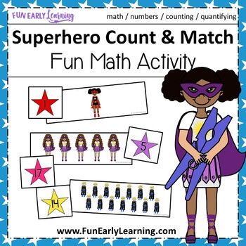 Superhero Count and Match - Math Center Activity
